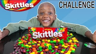 Matching Skittles Challenge (Kids Learn Colors With Skittles)