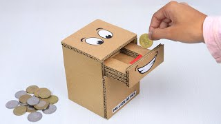 How To Make Coin Bank Box From Cardboard