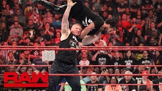 Brock Lesnar hits Seth Rollins with six F-5s: Raw, Jan. 28, 2019