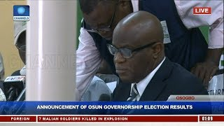 Announcement Of Osun Governorship Election Results Pt.2