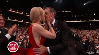 Nicole Kidman Kisses Co-Star Alexander Skargard In Front Of Husband Keith Urban At Emmys | The View