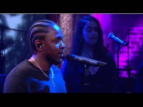 Kendrick Lamar Performs On Late Show with Stephen Colbert