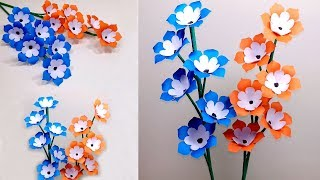 How to Make Beautiful Paper Stick Flower | Handcraft for Home | Jarine's Crafty Creation