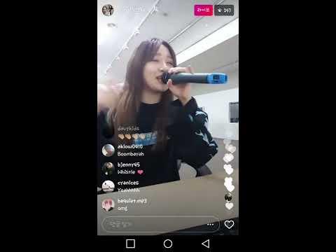Euna Kim ♥ 유나킴 - Whistle 휘파람(Black Pink 블랙핑크) Insta Live