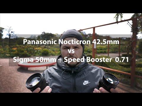 Panasonic Nocticron 42.5mm  f1.2 vs Sigma Art 50mm f1.4