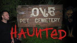 HAUNTED PET CEMETERY 24 HOUR OVERNIGHT CHALLENGE   OmarGoshTV