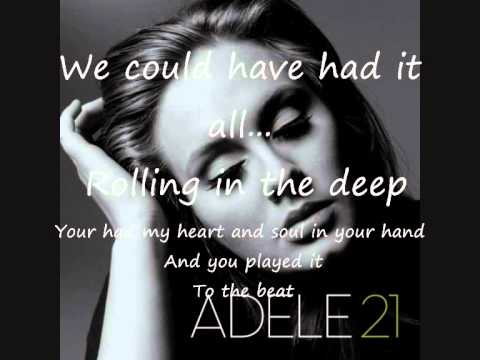 Adele- Rolling In The Deep- tekst