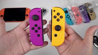NEW Neon Orange & Purple Joy-Con: Color Comparisons! (Nintendo Switch)