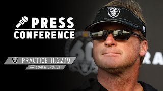 Coach Gruden Provides Injury Update, Ready for Jets | Raiders
