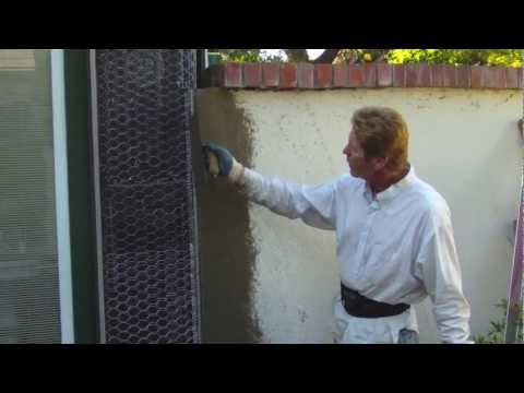 Integrate an expansion joint from stucco home to concrete - How to stucco exterior cinder block walls ...