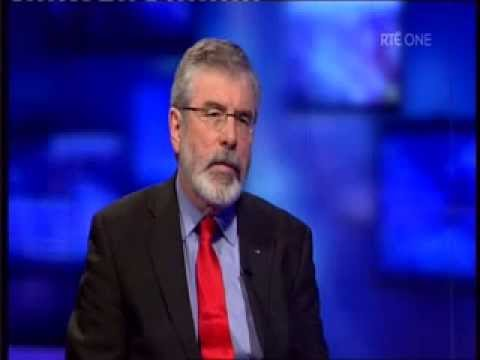 Gerry Adams interviewed on RTE Primetime - YouTube
