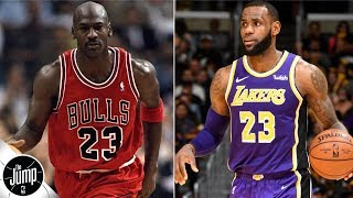 Can LeBron James ever pass Michael Jordan in the eyes of NBA peers?   The Jump