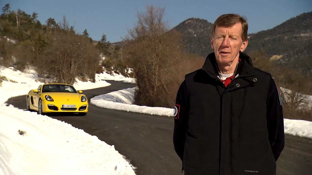 Follow rally legend Walter Röhrl as he meets the new Porsche Boxster for the first time (video in German language). Location: a former special stage of the Rallye Monte Carlo. More information on http://www.porsche.com/boxster