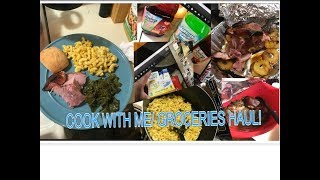 Grocery Haul+southern style cook with me! greens, ham, Mac N cheese