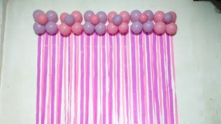Simple Balloon Birthday Decoration for your girls