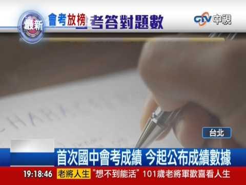 【中視新聞】首次國中會考成績 今起公布成績數據