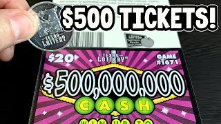 🤑 $500 IN TICKETS! **FULL PACK** $500,000,000 Cash 💰 TEXAS LOTTERY Scratch Off Tickets