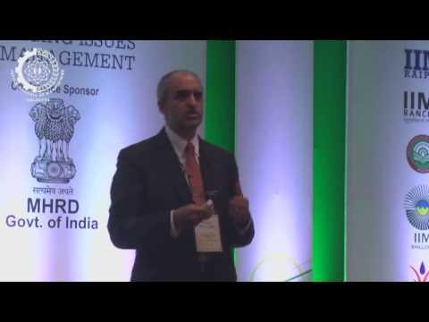 Srikant M at PAN IIM World Management Conference, Goa