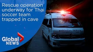 Rescue operation underway for Thailand soccer team trapped in cave