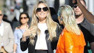 Heidi Klum Films Wacky Street Scenes In Beverly Hills For 'Germany's Next Top Model'