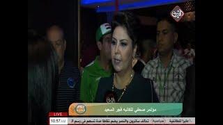 مؤتمر صحفي للكاتبه فجر السعيد بمناسبة عودتها الى بغداد     -