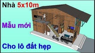 Nhà gác lửng 5x10,5m - tuyệt đẹp cho vợ chồng trẻ