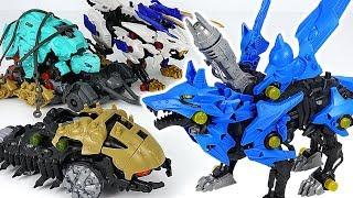 Zoids Wild ZW16 beast Hunter Wolf, Wild Liger VS ZW17 Catalga, dinosaur Death Rex! #DuDuPopTOY
