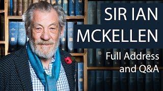 Sir Ian McKellen   Full Address and Q&A   Oxford Union