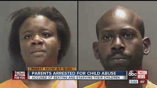 Sarasota parents accused of beating and starving twins and 6-year-old son