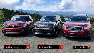 Kia Telluride Vs. Subaru Ascent Vs. Volkswagen Atlas – Which Big SUV Is The BEST??