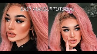 EASY AND SIMPLE AF MAKEUP TUTORIAL   meg feather