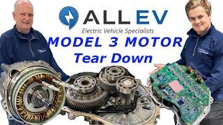 Tesla Model 3 Motor Tear Down - ALL EV