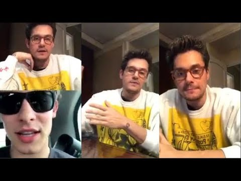 John Mayer talks with Shawn Mendes | Instagram Live Stream | 3 December 2017