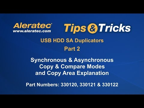 How To Copy & Compare with USB HDD Copy Tower SA Duplicator - Aleratec Tips & Tricks Part 2