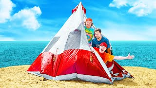 24 HOUR BEACH CAMPING CHALLENGE!