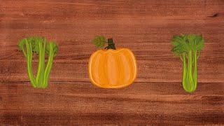 Educational video for children: vegetables | Learn the children in English: vegetables