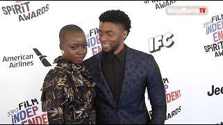 Danai Gurira, Chadwick Boseman at 2018 Film Independent Spirit Awards