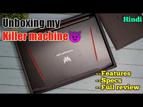 video Acer Predator Helios 300 Core i5 8th Gen – (8 GB/1 TB HDD/128 GB SSD/Windows 10 Home/4 GB Graphics)<span class=