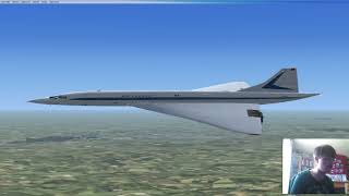 FSX: JFK to Charles de Gaulle with a Concorde