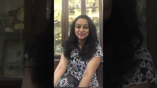 Malayalam TV anchor Lakshmi cute Instagram live video