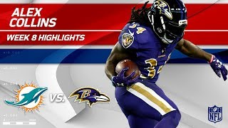 Alex Collins' Breakout Night w/ 143 Total Yards! | Dolphins vs. Ravens | Wk 8 Player Highlights