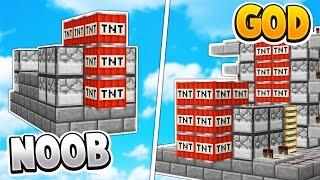 TNT WARS GOD vs TNT WARS NOOB | Minecraft TNT WARS