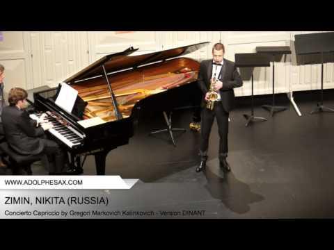 Dinant 2014 - ZIMIN Nikita (Concierto Capriccio by Gregori Markovich Kalinkovich - Version DINANT)