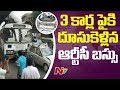 TSRTC Bus Hits Three Cars In Hyderabad