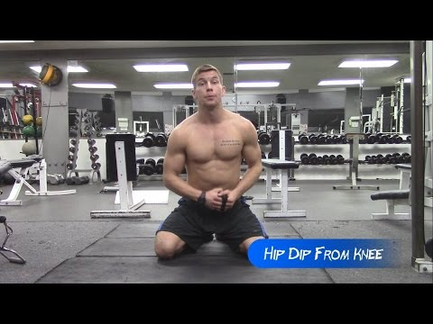 Hip Dip Exercise From Knee | Adonis Belt Abs
