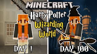 I Played For 100 DAYS in Minecraft HARRY POTTER wizarding world... And here's what happened