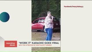 Missy Elliott Loving Karaoke Version of `Work It`