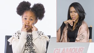 7-Year-Old Makes Her Mom's Dating Profile | Glamour