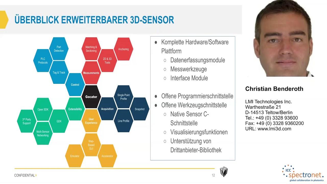 Kundenspezifische Algorithmen für intelligente 3D-Sensoren - Technologieforum Bildverarbeitung 2017