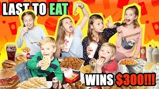 LAST to LEAVE with FOOD WINS! | Last To EAT WINS $300 Dollars CASH!